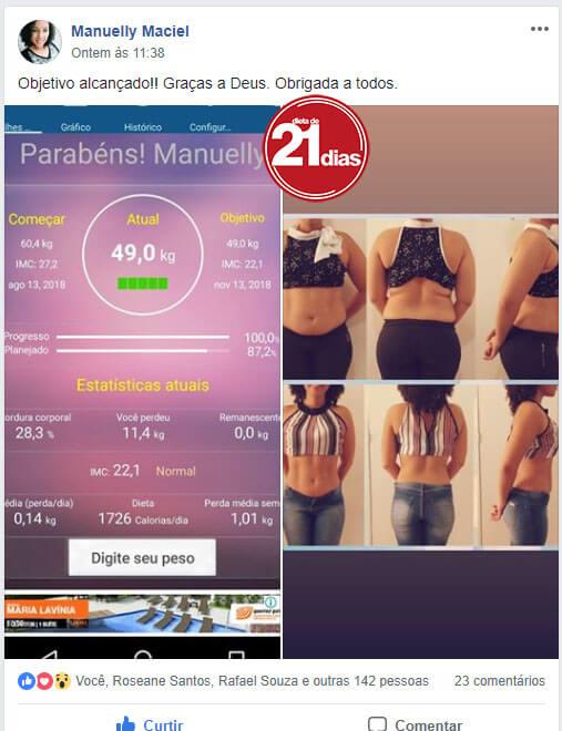 Resultado d top de perda de peso